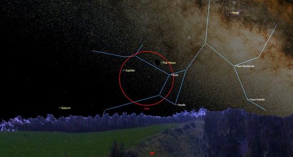 February 19 at 545 am - Old Moon Meets Jupiter
